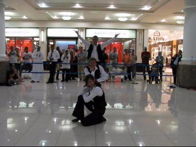 Magyar sztepptáncosok Dubaiban
